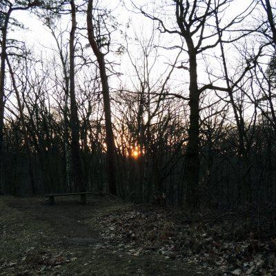 Die Sonne geht auf dem Kolkberg unter