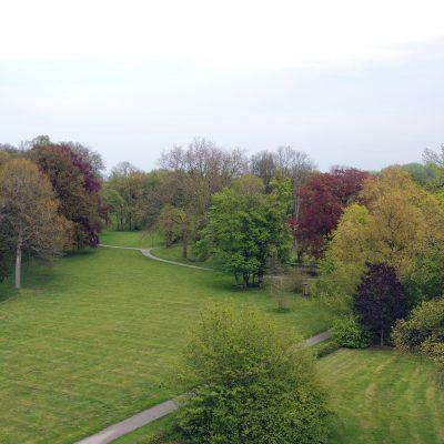 Blick vom Turm auf den Park