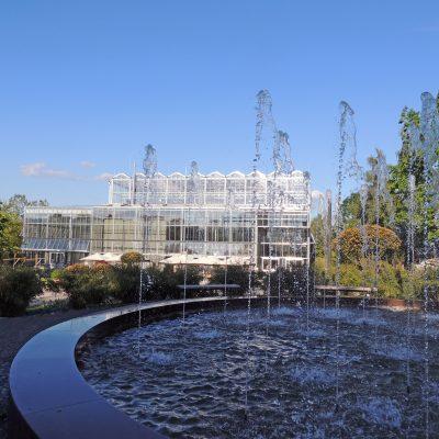 Blick auf das neue Tropenhaus