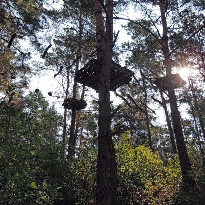 Kletterpark vorm Wildpark
