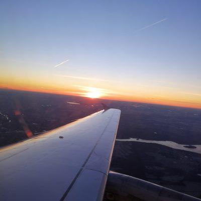 Sonnenaufgang zwischen Berlin und Frankfurt