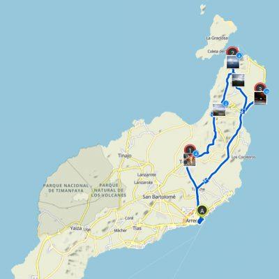 Route Lanzarote