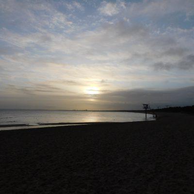 Sonnenaufgang am Strand - auf nach Swinemünde